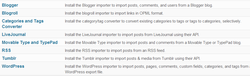 import tool How to Use Export/Import in WordPress