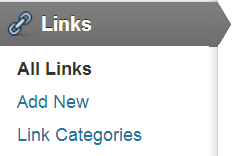 """links options What is """"Links Manager"""" in WordPress?"""