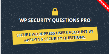 WP Security Questions Pro Wordpress Plugin